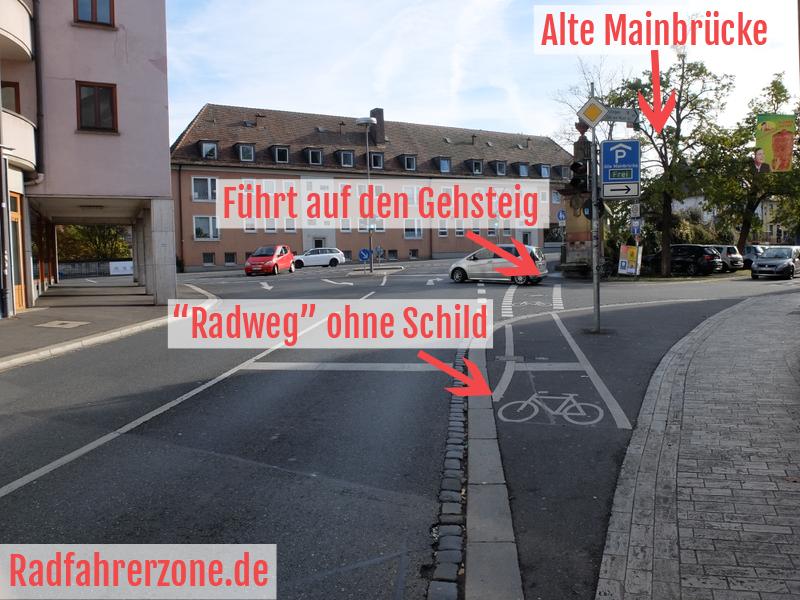 """Radweg"" an der Zeller Straße | Radfahrerzone.de"