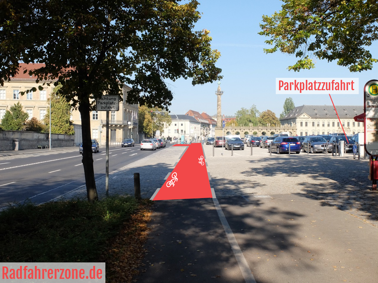 Radweg Würzburger Residenz Idee 2